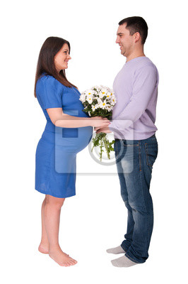 man and pregnant woman