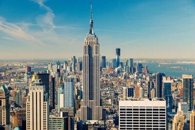 Canvas print Manhattan aerial view