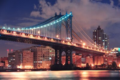 Canvas print manhattan bridge