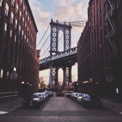 Canvas print Manhattan bridge