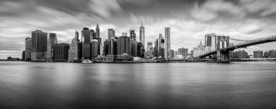Canvas print Manhattan from Brooklyn (B&W)