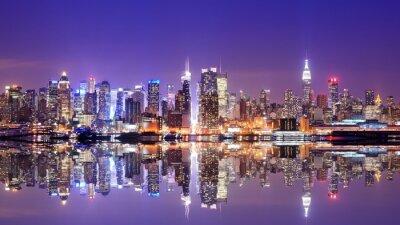 Canvas print Manhattan Skyline with Reflections