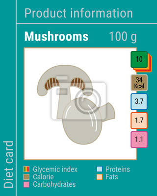 Map information products. Mushrooms