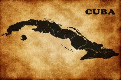 Canvas print Map of Cuba