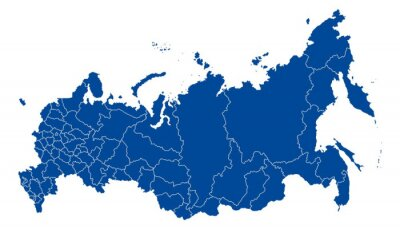 Canvas print Map of Russian Federation