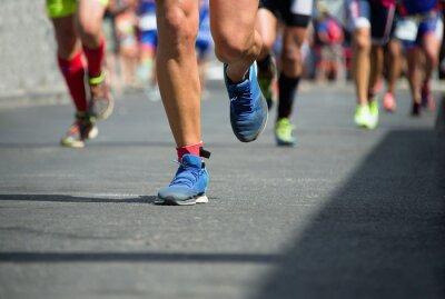 Canvas print Marathon runners