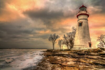 Canvas print Marblehead Lighthouse HDR
