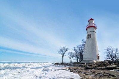 Canvas print Marblehead Lighthouse Winter Scene