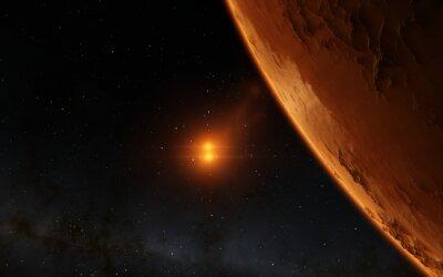 Canvas print Mars  Scientific illustration -  planetary landscape