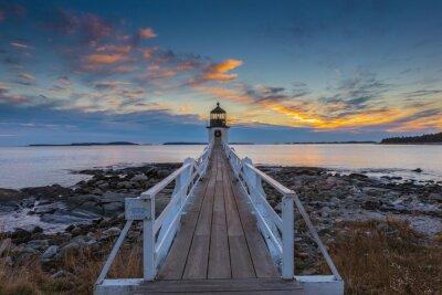 Canvas print Marshall Point Lighthouse