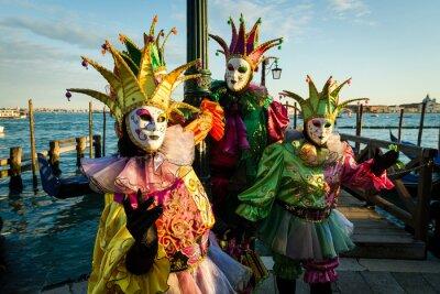 Canvas print Maschera carnevale di Venezia
