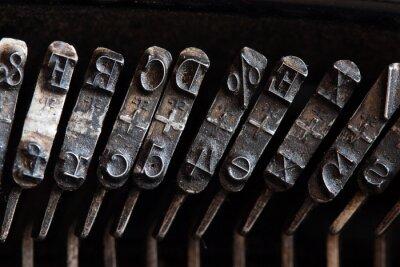 Canvas print maszyna do pisania