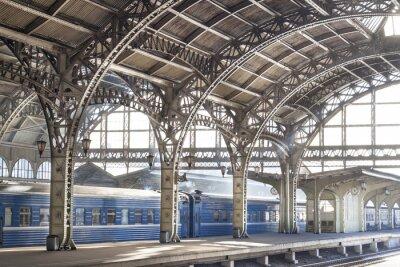 Canvas print Metal train station