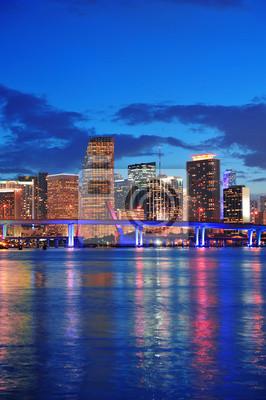 Canvas print Miami night scene