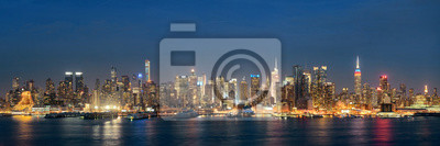 Canvas print Midtown skyline over Hudson River