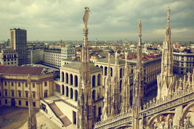 Canvas print Milan, Italy. View on Royal Palace - Palazzo Realle
