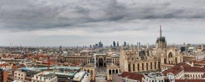 Canvas print Milano panoramica