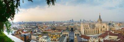 Canvas print Milano panoramica centro