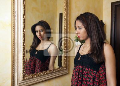 Canvas print mirror