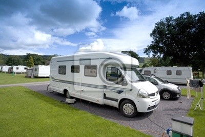 mobile home on a  caravan holiday site