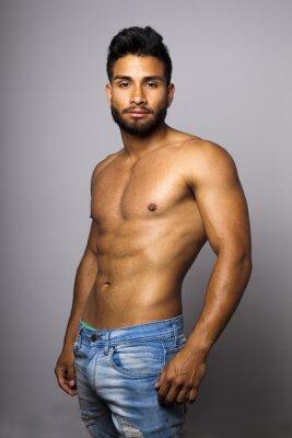 Canvas print Modelo masculino musculoso con torso desnudo