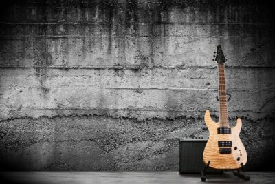 Canvas print Modern electric guitar