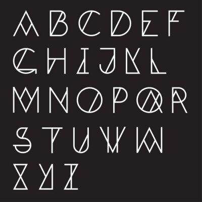 Canvas print Modern geometric alphabet