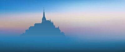 Canvas print Mont St Michel - panoramique - aube