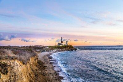 Canvas print Montauk Point Light, Lighthouse, Long Island, New York, Suffolk