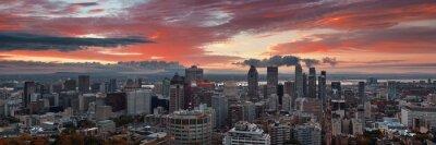 Montreal sunrise city skyline panorama