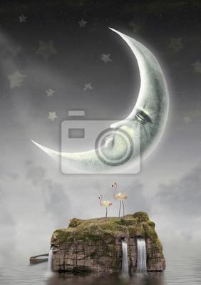Canvas print Moon  in sky