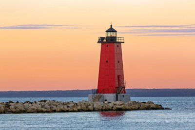 Canvas print Morning at Manistique Lighthouse
