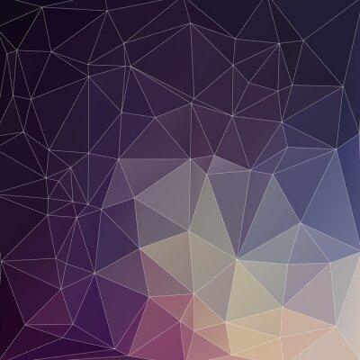 Canvas print Mosaik Polygon Hintergrund