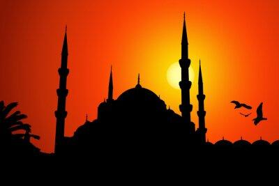 Canvas print Moschea silhouette