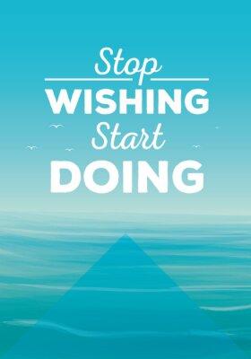Canvas print Motivation quote