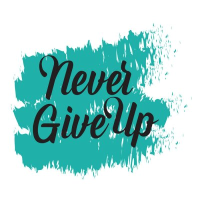 Canvas print Motivational quotes. Never Give Up