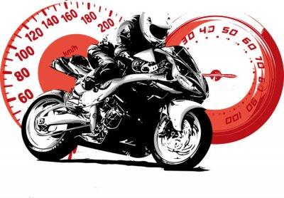 Canvas print moto
