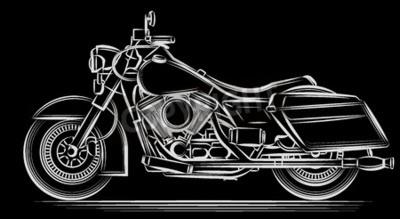 Canvas print motorcycle vector