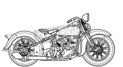 Canvas print Motorcycle vintage
