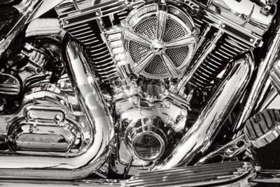 Canvas print Motorcycle with chrome parts