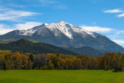 Canvas print Mount Sopris Elk Mountains Colorado - Fall colors