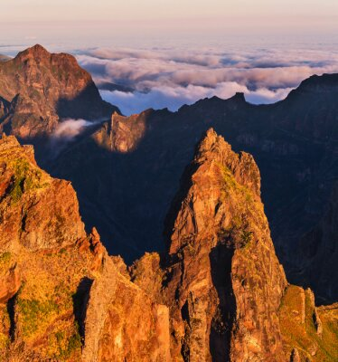 Canvas print Mountains in Madeira