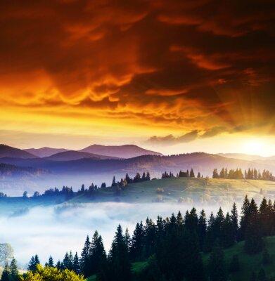 Canvas print Mountains landscape