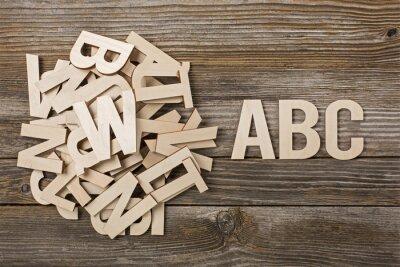 Canvas print Mucchio di lettere ABC