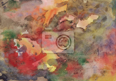 Multicolored background watercolor. Reminiscent of a spider. Abstract painting