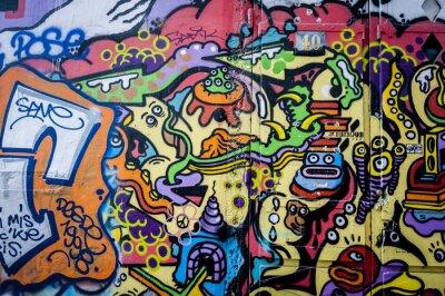 Canvas print Mur de graffiti fun