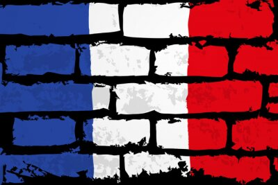 Canvas print mur flaga francji wektor