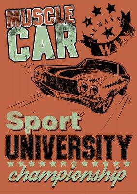 Canvas print Muscle car