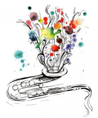 Canvas print music