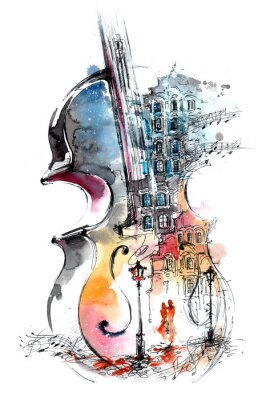 Canvas print music and the city